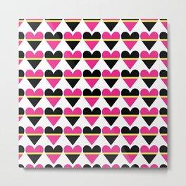 Sweethearts pink #hatetolove Metal Print