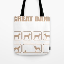 Stubborn Great Dane Tricks design Tote Bag