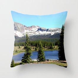Little Molas Lake with Snowdon Peak Throw Pillow