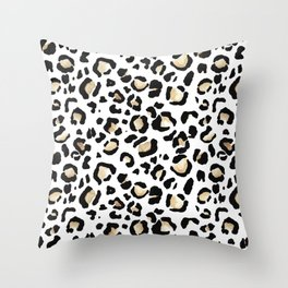 Leopard Animal Print Watercolour Painting Throw Pillow