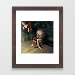 A Treat for Hannibal Framed Art Print