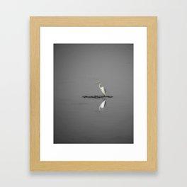"""""""Mirrored Egret"""" Framed Art Print"""