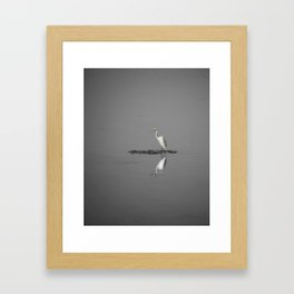 """Mirrored Egret"" by Murray Bolesta Framed Art Print"