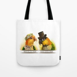 Mr & Mrs Caique Realistic Painting Tote Bag