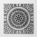 Black and White Mandala Pattern by laurelmae