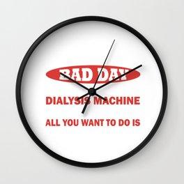Dialysis Nurse design for Men & Women Wall Clock