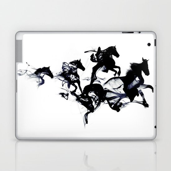 Black horses Laptop & iPad Skin