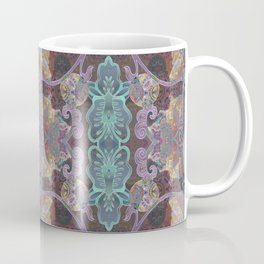Tibetan Inspired Meditation Floral Print Coffee Mug