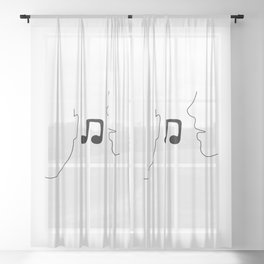 Music To My Ears Sheer Curtain