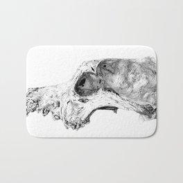 Wolf Skull Bath Mat