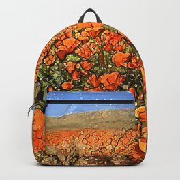 Golden Poppies in My Dreams Backpack