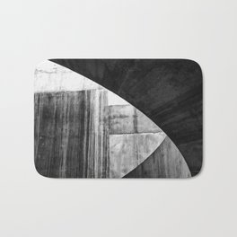 Stone Circle Meets Square Concrete Abstract Bath Mat