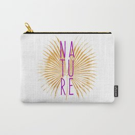 Nature - Botanical Minimalism Typography Carry-All Pouch