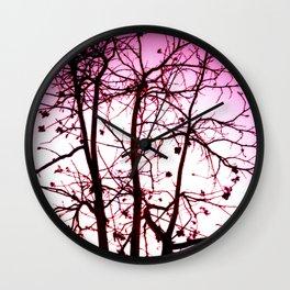 La vie in Rose Wall Clock