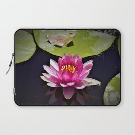 Pink Waterlily Reflects Laptop Sleeve