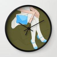 legs Wall Clocks featuring legs by ministryofpixel