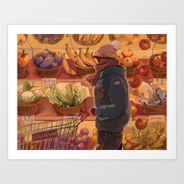 groceries day Art Print