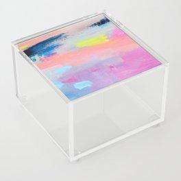 Dreamy Abstract pink Art  Acrylic Box