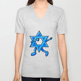 Dabbing Star Of David Jewish Funny Hanukkah Holiday Unisex V-Neck