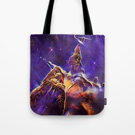 ALTERED Hubble Mystic Mountain- Carina Nebula Tote Bag