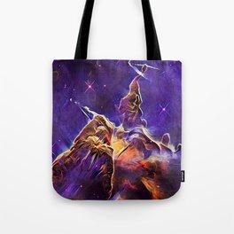 ALTERED Hubble Mystic Mountain- Carina Nebula Tote Bag
