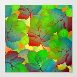 Colored Leaves Canvas Print