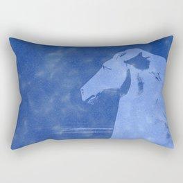 Horse in a Storm Rectangular Pillow