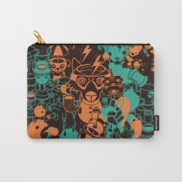 Dream Factory Orange and Blue Carry-All Pouch