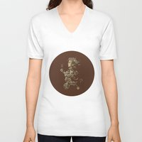 cycle V-neck T-shirts featuring CYCLE by AMULET