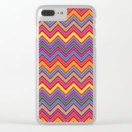 Colourful Chevron Clear iPhone Case