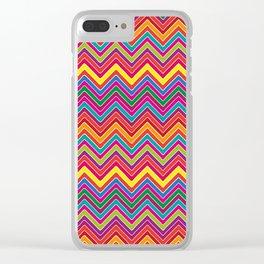Colourful Chevron Clear iPhone Case