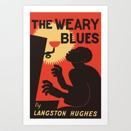 Retro The Weary Blues (music) Art Print