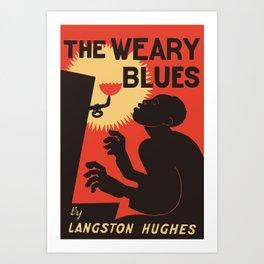 Retro The Weary Blues (music) Art Print