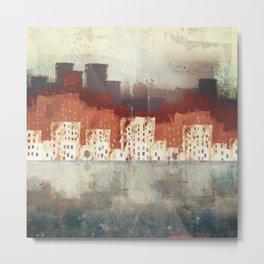 City Rain Metal Print
