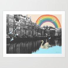 LOVE FROM AMSTERDAM!  Art Print