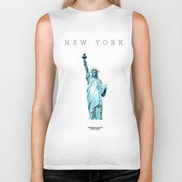 New York Minimal City Statue of Liberty Biker Tank
