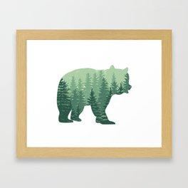 Forest Bear Framed Art Print