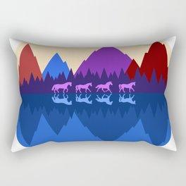 Four Horses Rectangular Pillow