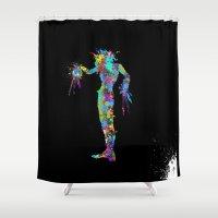 edward scissorhands Shower Curtains featuring Edward Scissorhands by AHDessins