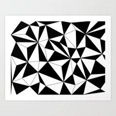 Geo - black and white Art Print