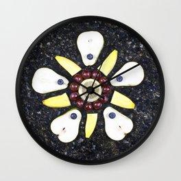 Fruitful Flowers - pears Wall Clock