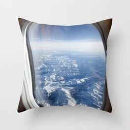 Winter Vacation Postcard Throw Pillow