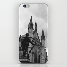 Soldier and cathedral iPhone Skin
