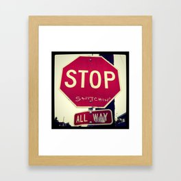 Stop Snitchin' Framed Art Print