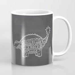 Ankylosaurus Dinosaur (A.K.A. Armored Lizard) Butcher Meat Diagram Coffee Mug