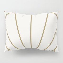Diamond Series Sun Burst Gold on White Pillow Sham