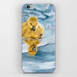 Is That Me? - Canadian Goose Gosling Acrylic Painting by Teresa Thompson iPhone Skin