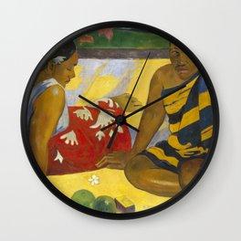 Parau Api / What's news? by Paul Gauguin Wall Clock