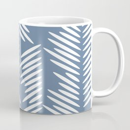 Leaves abstract in blue Coffee Mug