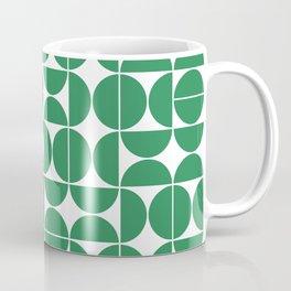 Mid Century Modern Geometric 04 Green Coffee Mug